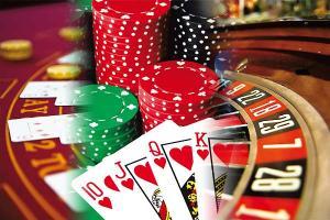 jeux casino cartes dés jetons roulette
